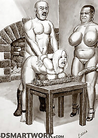 Once more she had attached weights to her nipples, through the use of viciously sharp clips pic 3