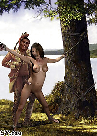 Petunia could only scream and scream as her tight, virgin asshole was plundered by the war chief pic 3