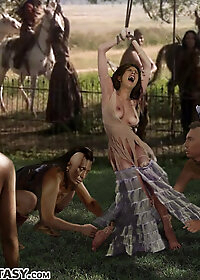 Poor Matilda could only watch in horror as her dear daughter was stripped naked pic 2