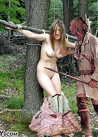Her tight brown bud was ripped open that very night in that lonely forest out west pic 1